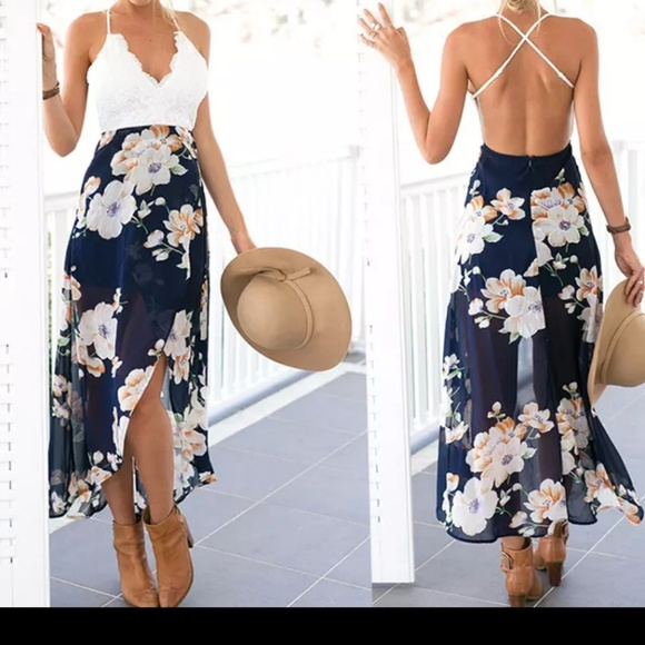 Boutique Dresses Price Drop Backless Summer Maxi Dress Poshmark